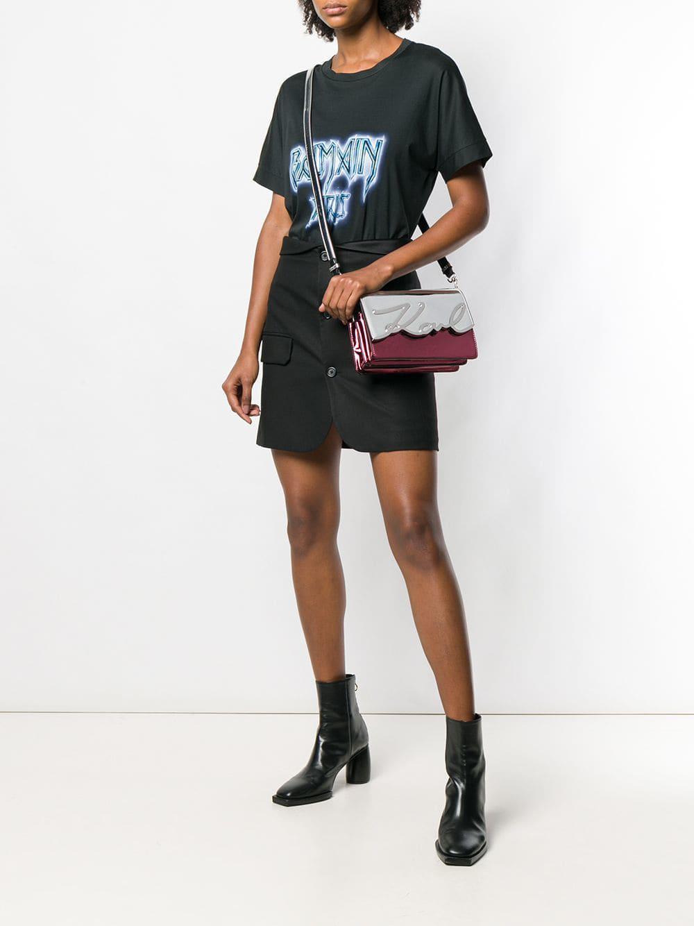 b48d660e9f Lyst - Karl Lagerfeld K/signature Crossbody Bag in Metallic
