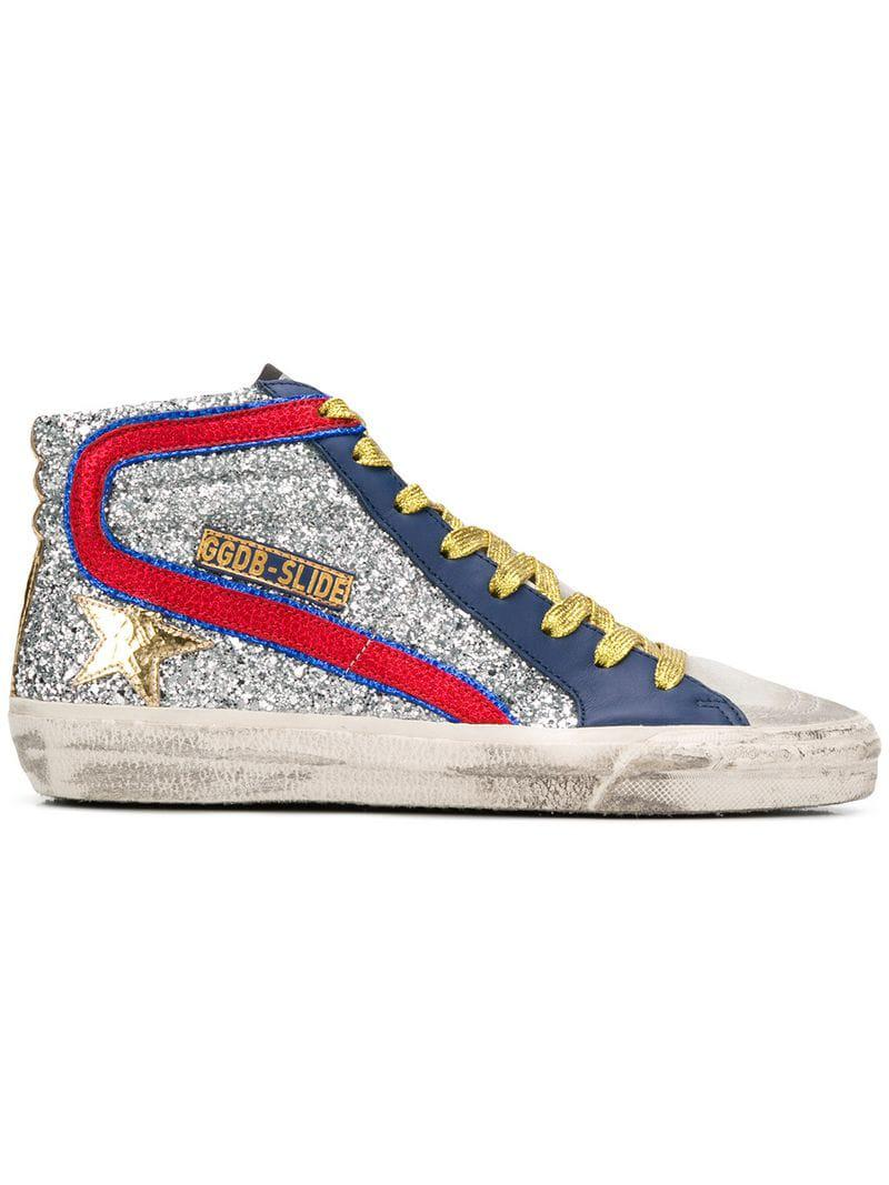 de450e34f2b7 Golden Goose Deluxe Brand Mid Star Sneakers in Metallic - Lyst