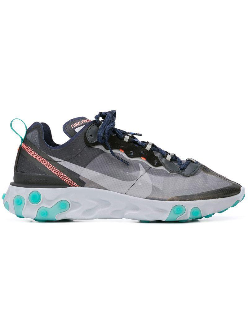 outlet store d535d f4bab Lyst - Nike React Element 87 Sneakers in Gray for Men