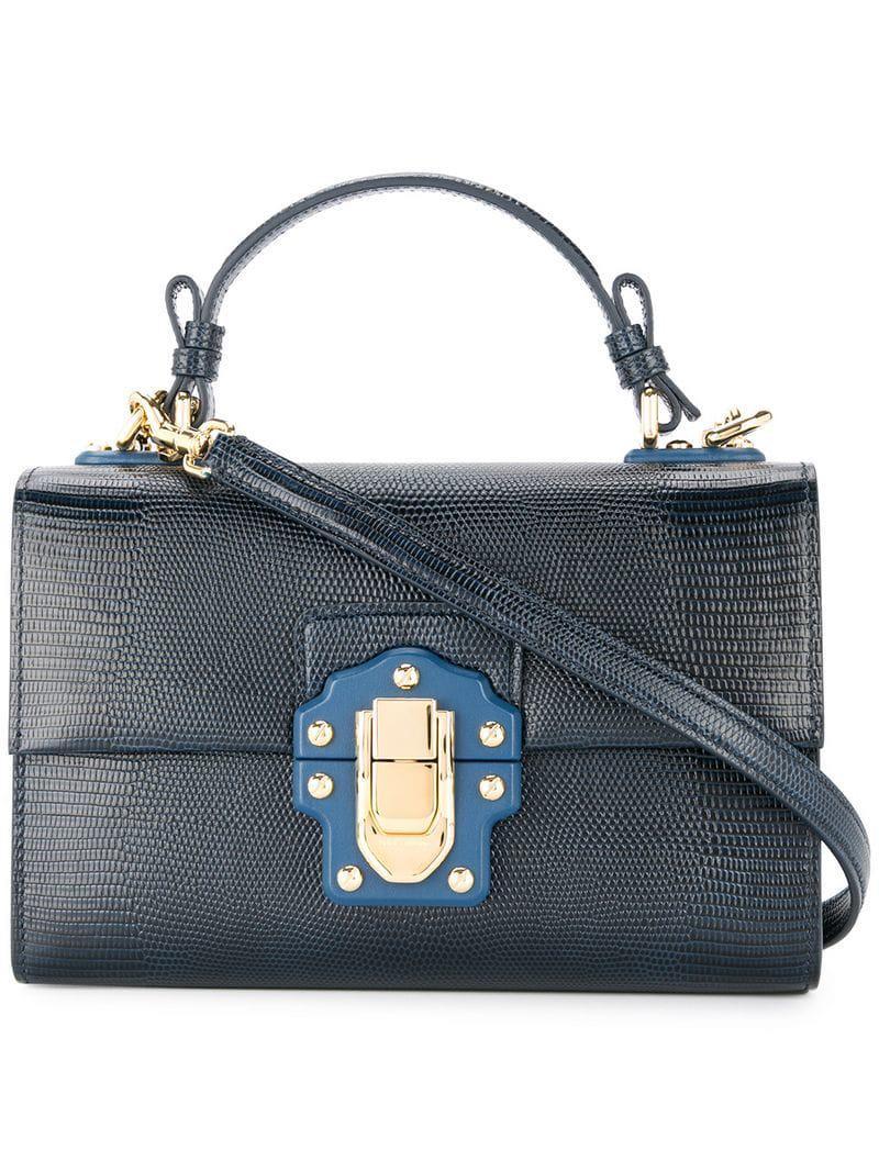 0ac0f2683468 Lyst - Dolce   Gabbana Lucia Tote Bag in Blue