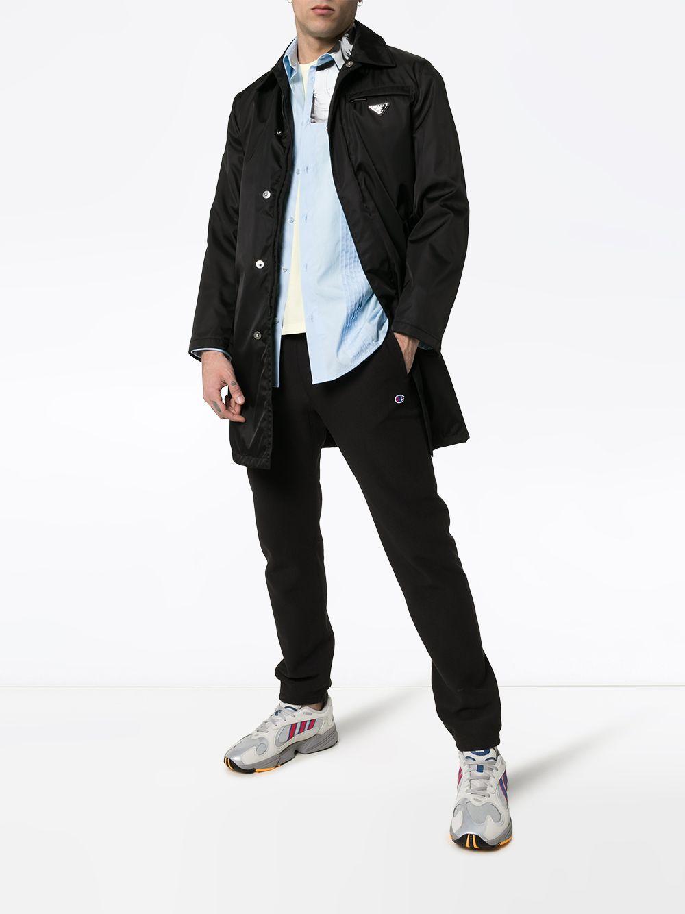 3e5952f66471e Champion Logo Embroidered Cotton Sweat Pants in Black for Men - Lyst