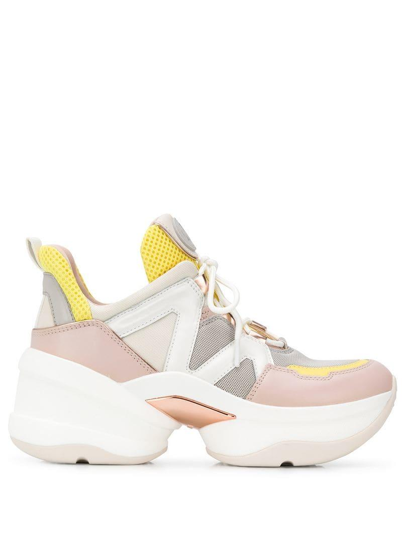 44004fddec2 Lyst - MICHAEL Michael Kors Olympia Sneakers in Pink