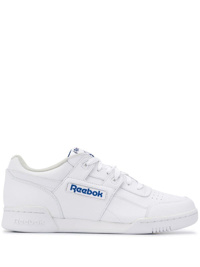 b977190204c Reebok - White Workout Plus Sneakers for Men - Lyst. View fullscreen