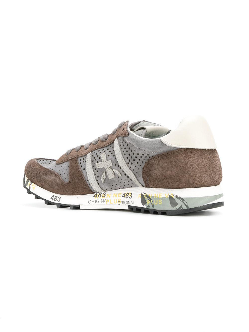 Sale View Outlet Discount Sale Light grey Eric pierced sneakers Premiata Low Shipping Cheap Price Best Sale bEDfpk6