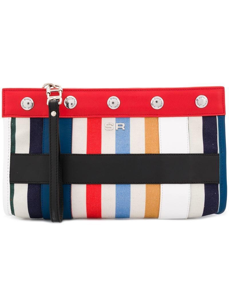 Sonia Rykiel. Women s Striped Clutch 24ac030cf1725