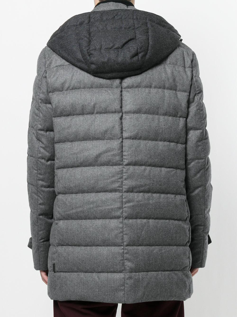 cfcc6783c21 Moncler Nicloux Coat in Gray for Men - Lyst