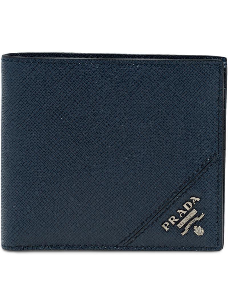 3f090731235e Prada - Blue Leather Wallet for Men - Lyst. View fullscreen