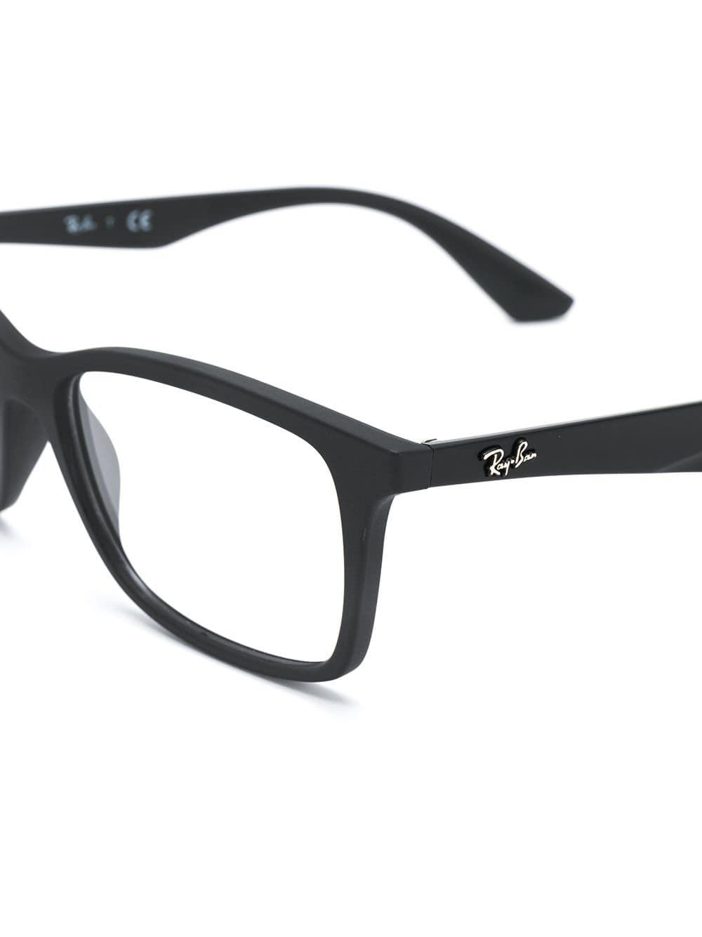 7bd7a8b0c332c Ray-Ban Rectangle Frame Glasses in Black - Lyst