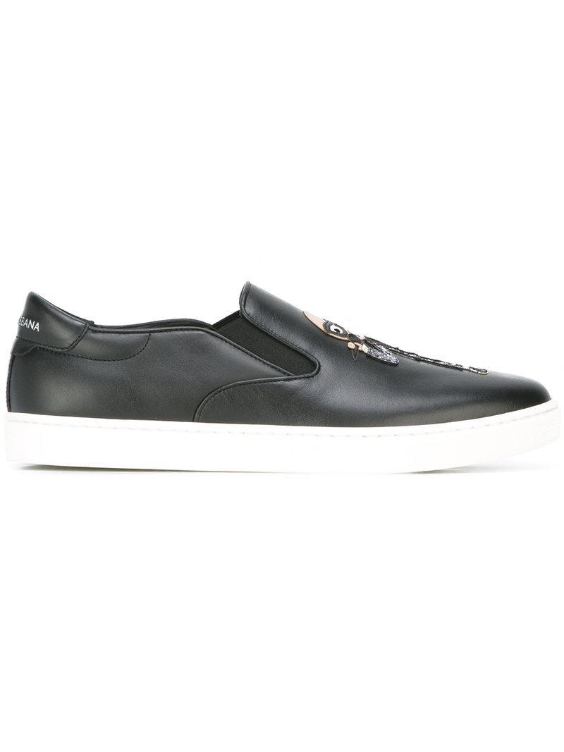 c51b0c129146 Lyst - Dolce   Gabbana London Designer Patch Slip-on Sneakers in ...