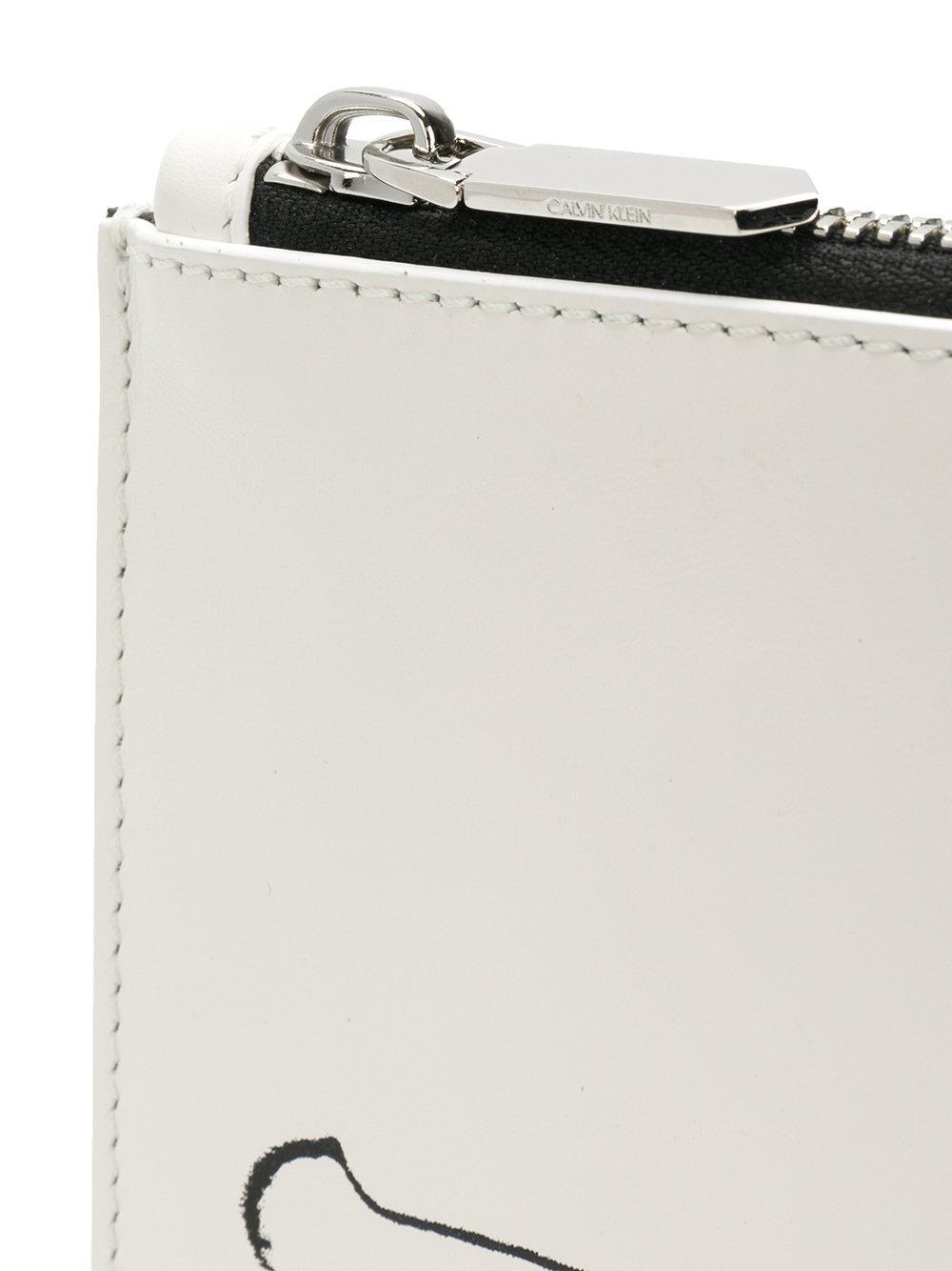 Calvin Klein Pochette à imprimés graphiques lL3aM