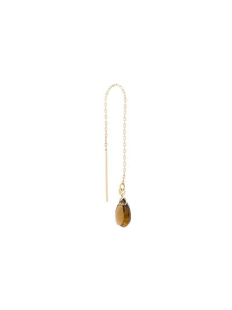 Uzerai Edits smoked quartz pull-through earrings - Metallic KL7oO