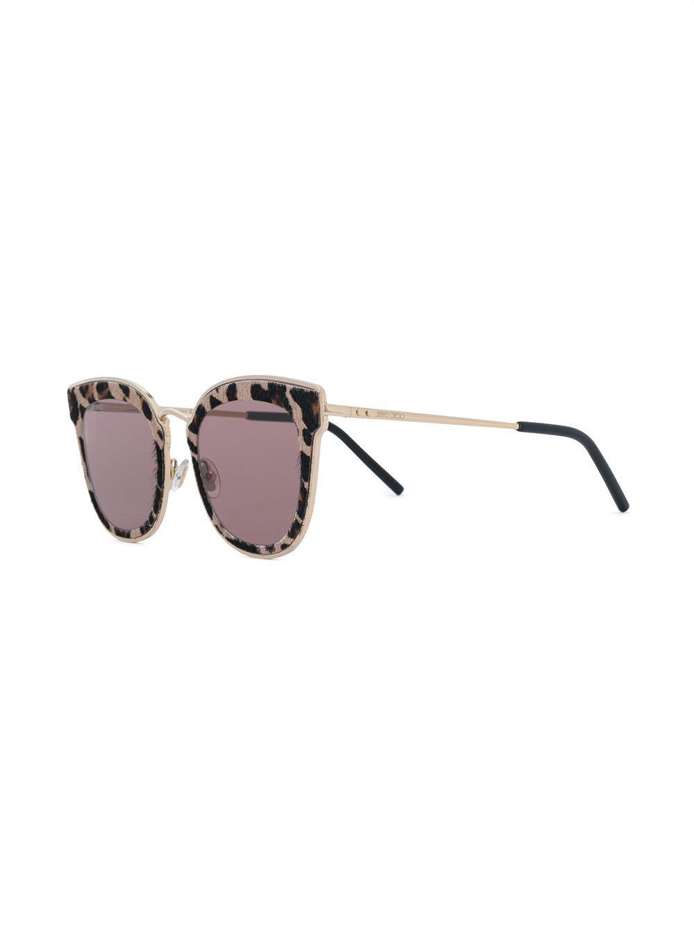 1e58ba514ed Lyst - Jimmy Choo Niles Sunglasses in Brown