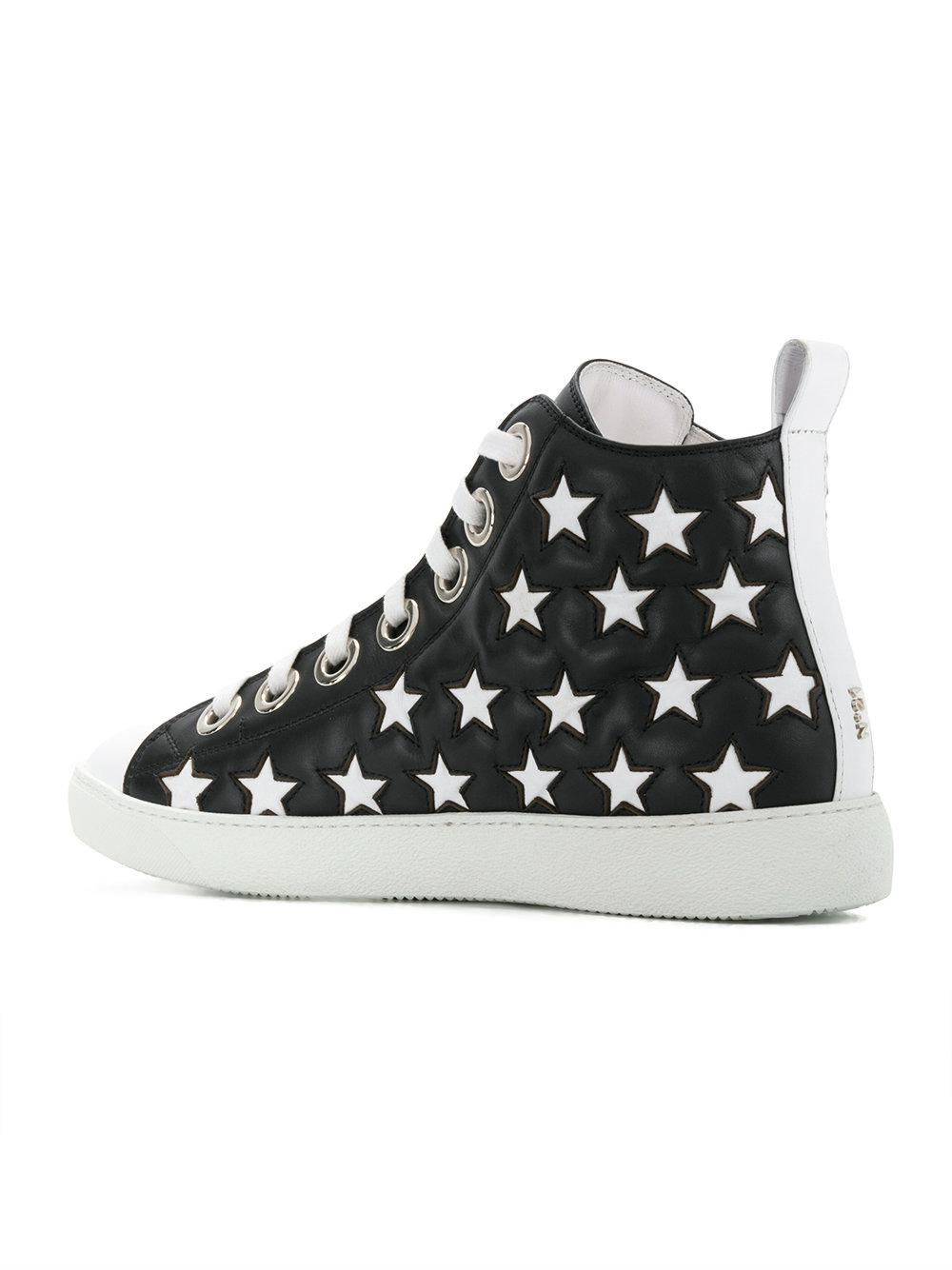 high-top star detail sneakers - Black N°21 4uCZ4M4F