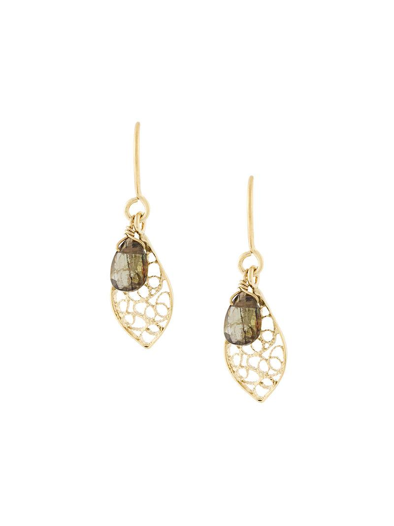Wouters & Hendrix filigree leaf earrings - Metallic UHaWE0