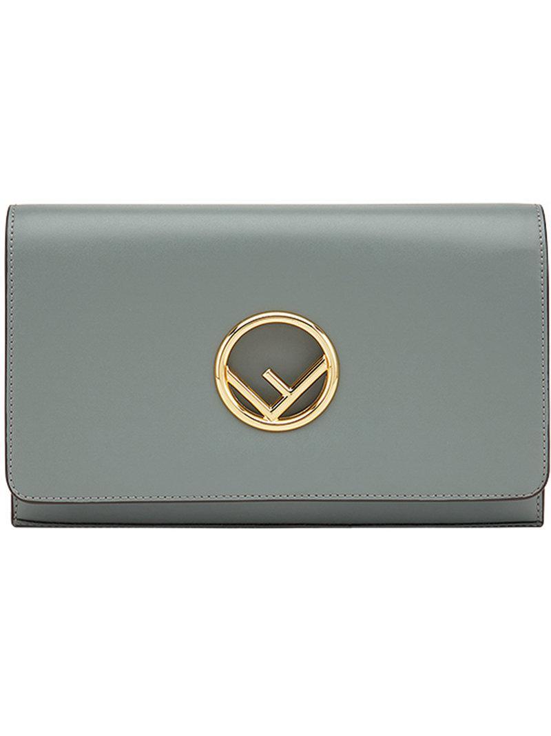 81806aa77253 Lyst - Fendi Wallet On Chain Wallet On Chain in Green