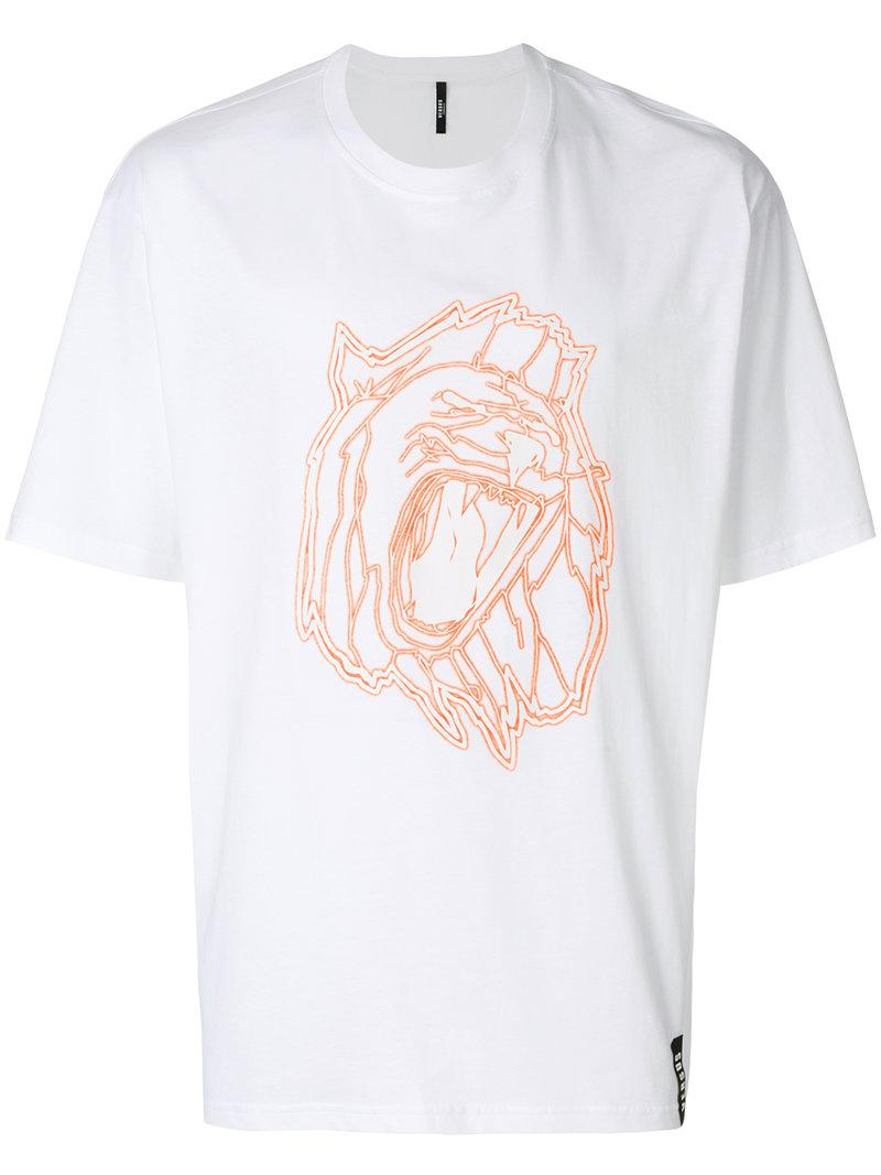 Lyst versus graphic print t shirt in white for men for Graphic t shirt printing company