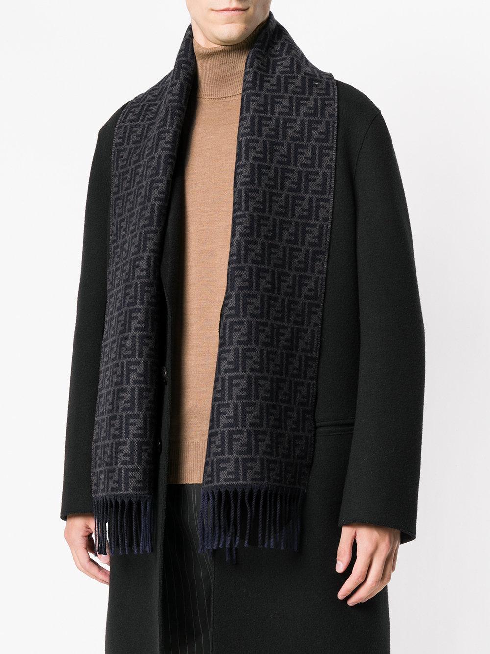 a66ee8b4210 ... where can i buy fendi blue pattern scarf for men lyst. view fullscreen  acb5f 68337