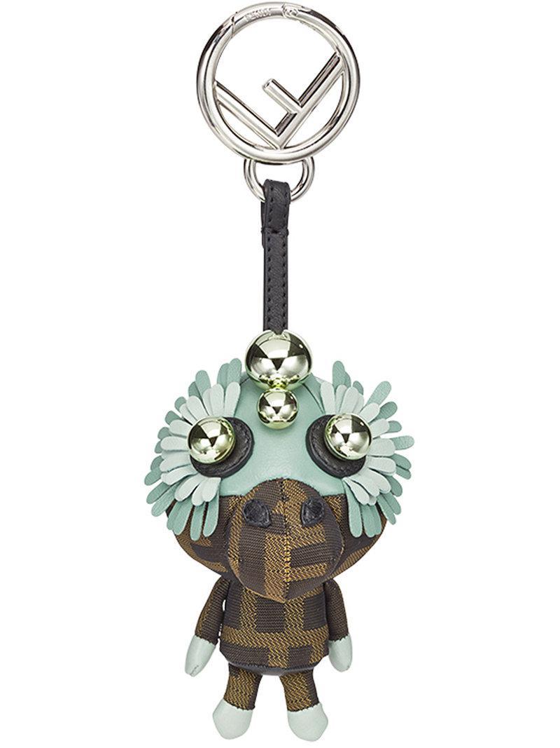 Fendi Space monkey bag charm - Brown QorjFD