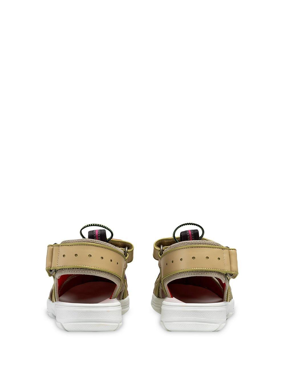 68b71315469 Gucci - Multicolor Leather And Mesh Sandals - Lyst. View fullscreen