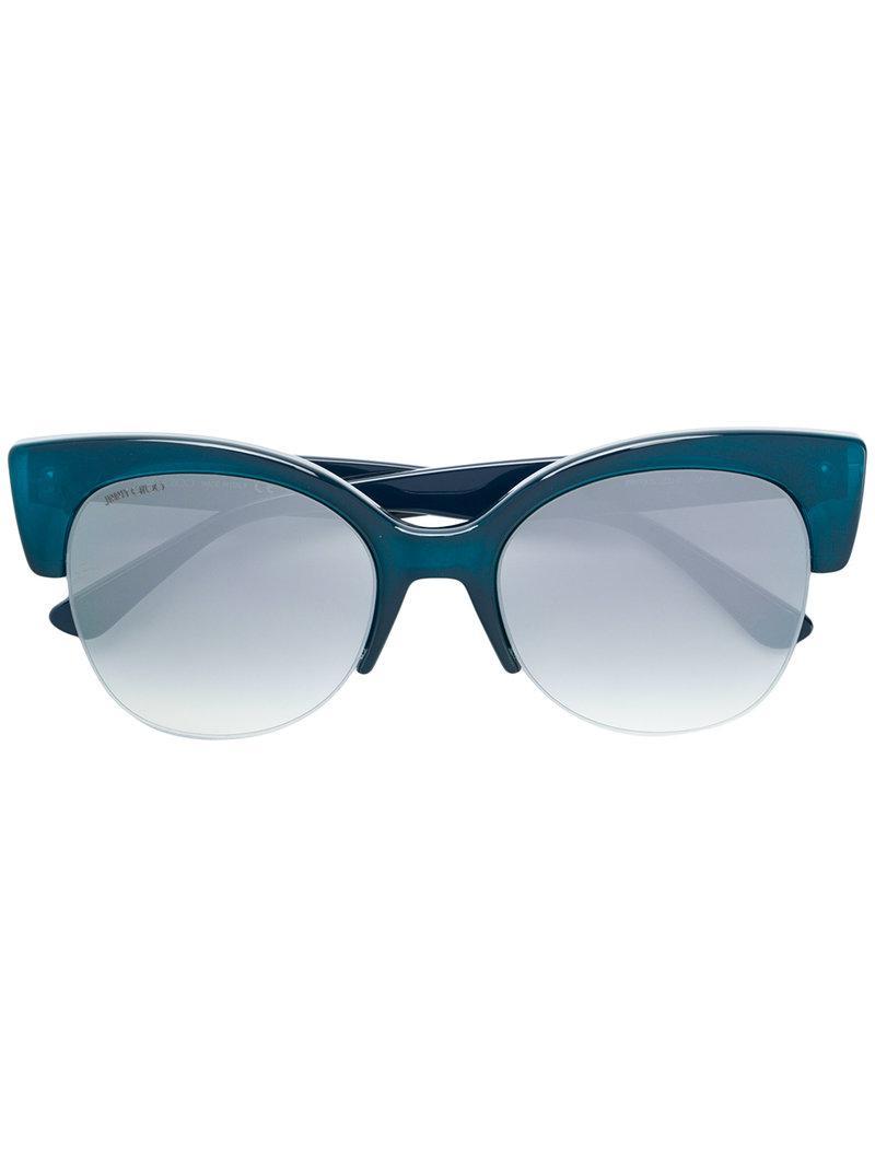 e31e86fc2a0 Jimmy Choo Priya 56 Sunglasses in Blue - Lyst