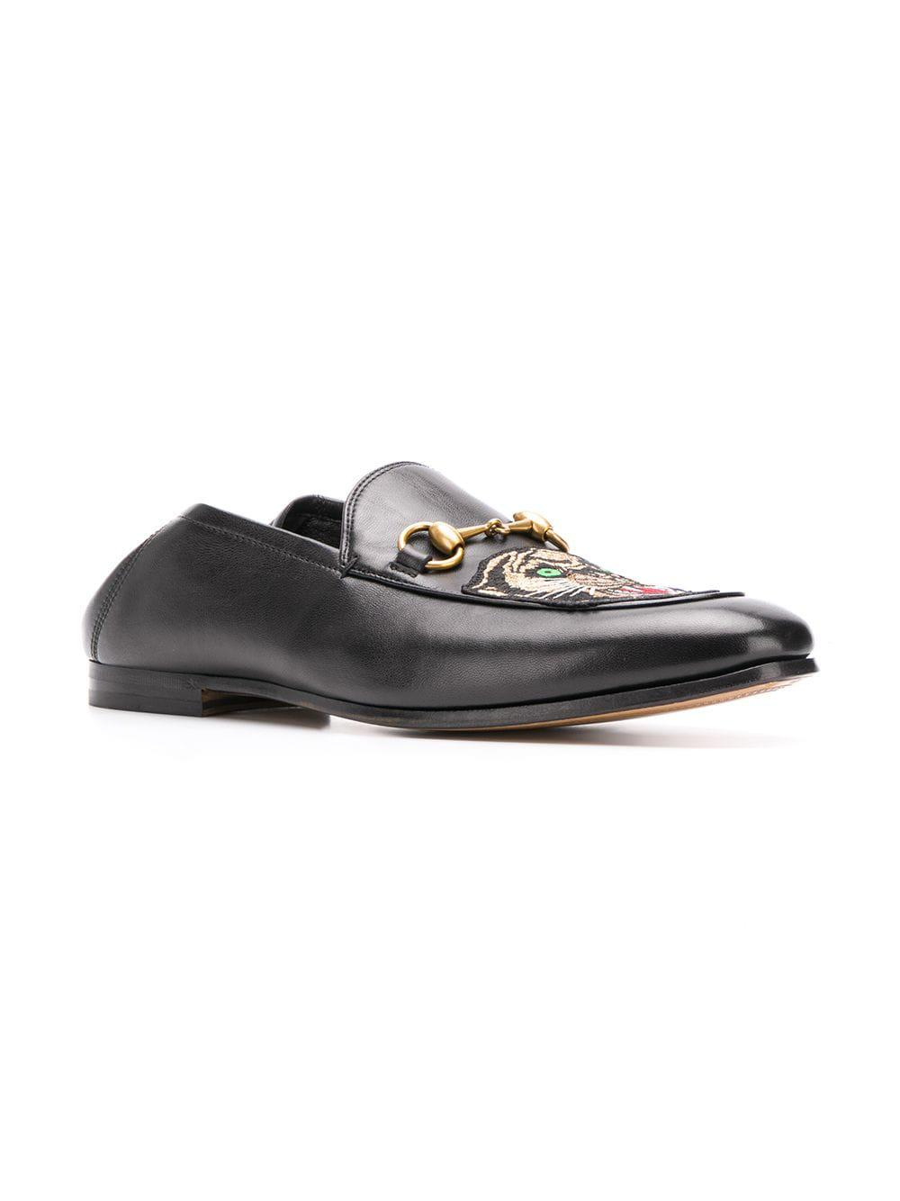 23a0e922b Gucci Panther Embroidered Horsebit Loafers in Black for Men - Lyst