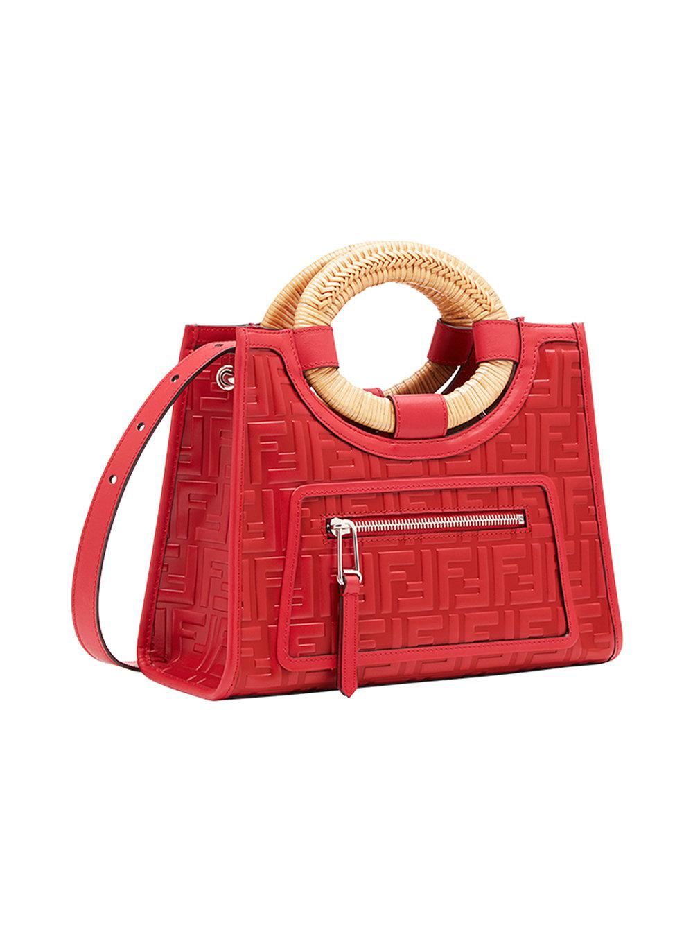 2f51b2eca2c2 Fendi - Red Runaway Shopper Bag - Lyst. View fullscreen
