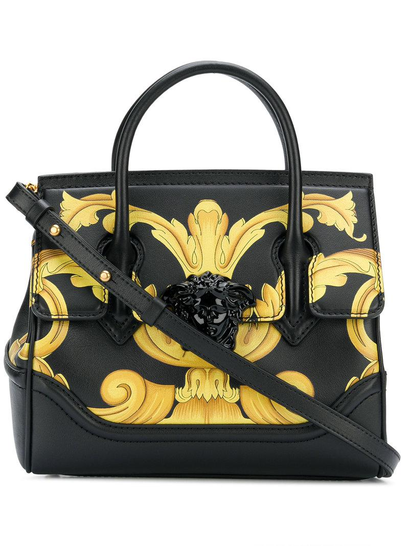 d041df8db820 Lyst - Versace Palazzo Empire Printed Tote in Black - Save 7%