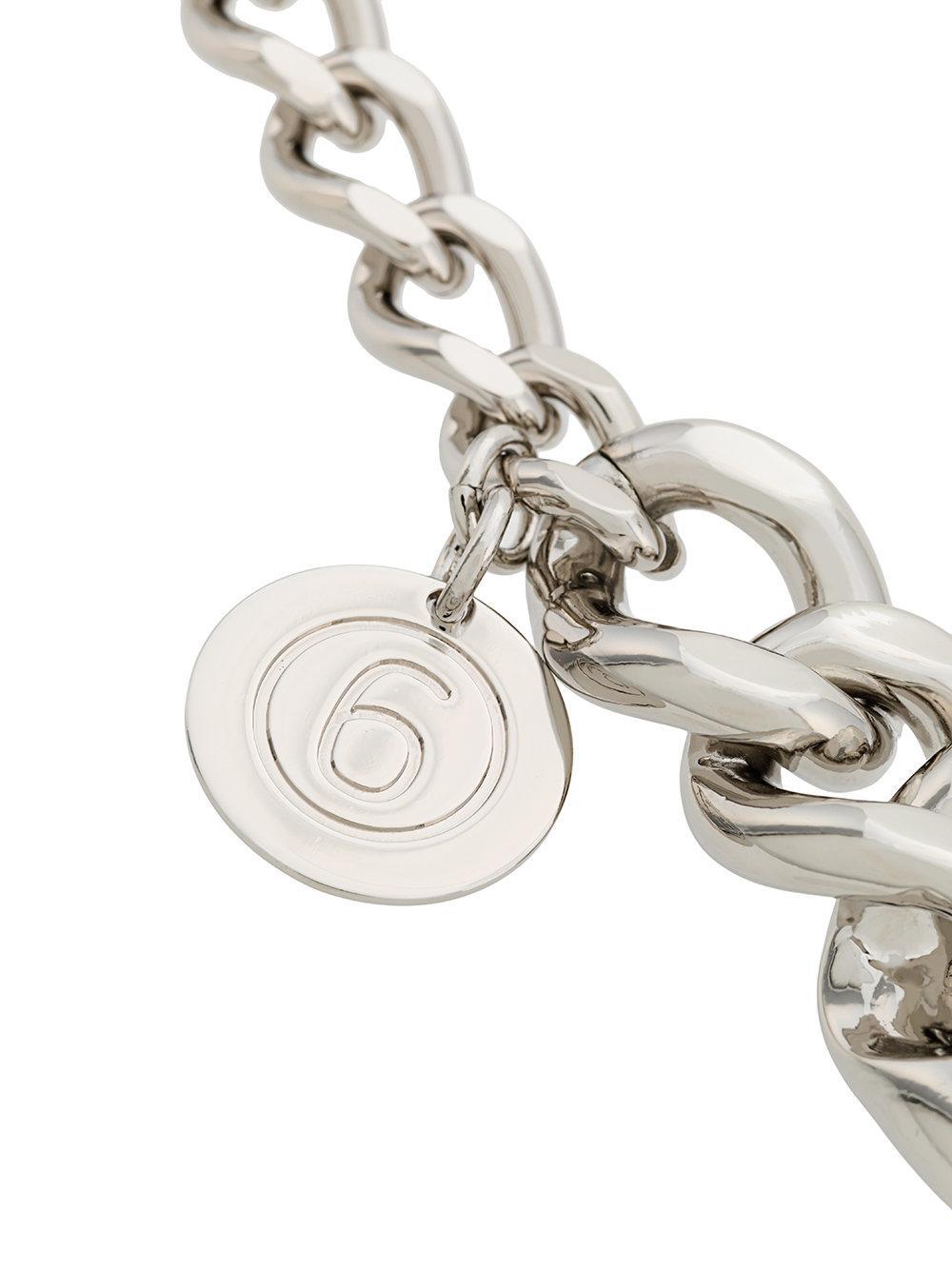 oversized cable chain bracelet - Metallic Maison Martin Margiela vkinRf