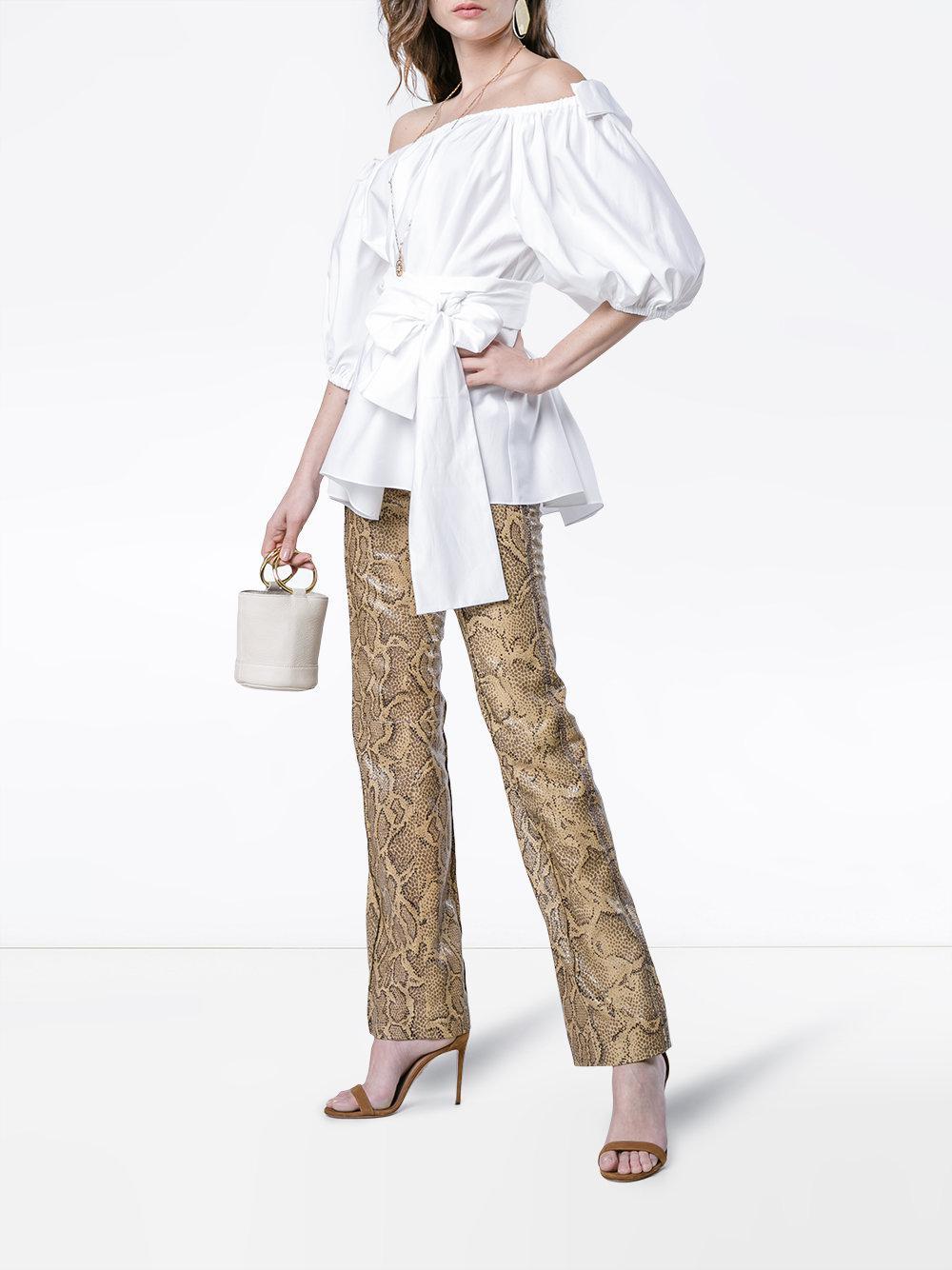 6eca3be593b123 Stella McCartney Michelle Taffeta Top in White - Save 42% - Lyst