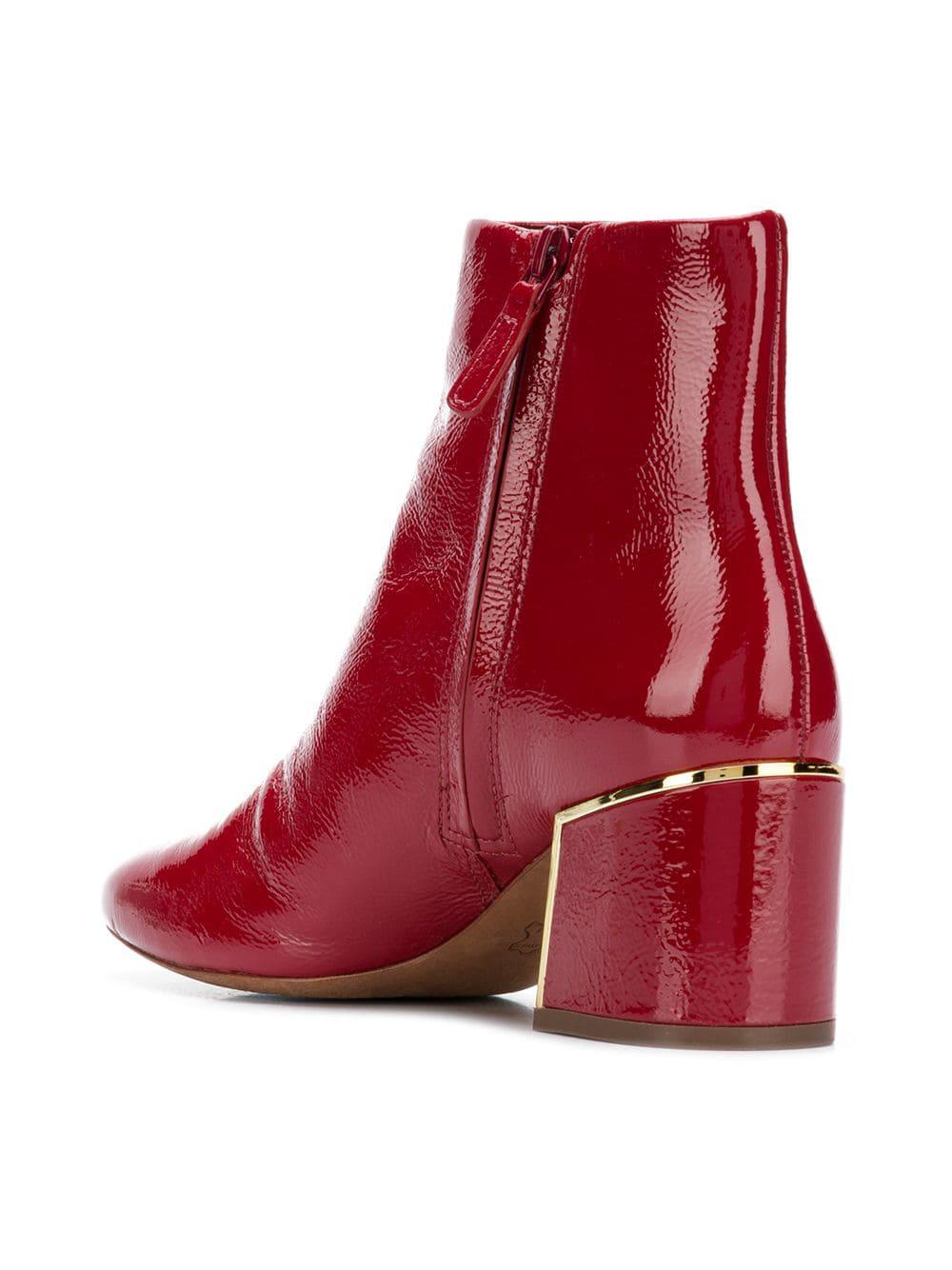 79f29f4d392 Tory Burch - Dark Redstone Juliana Booties - Lyst. View fullscreen