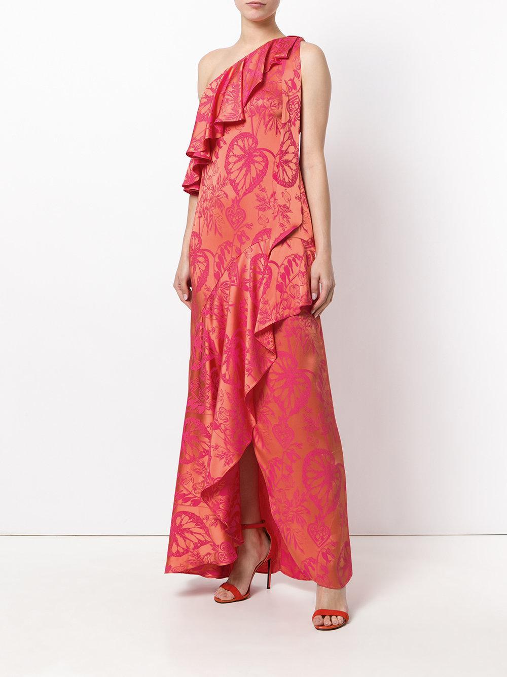 Orbit ruffle dress - Yellow & Orange Temperley London YQRx82mye