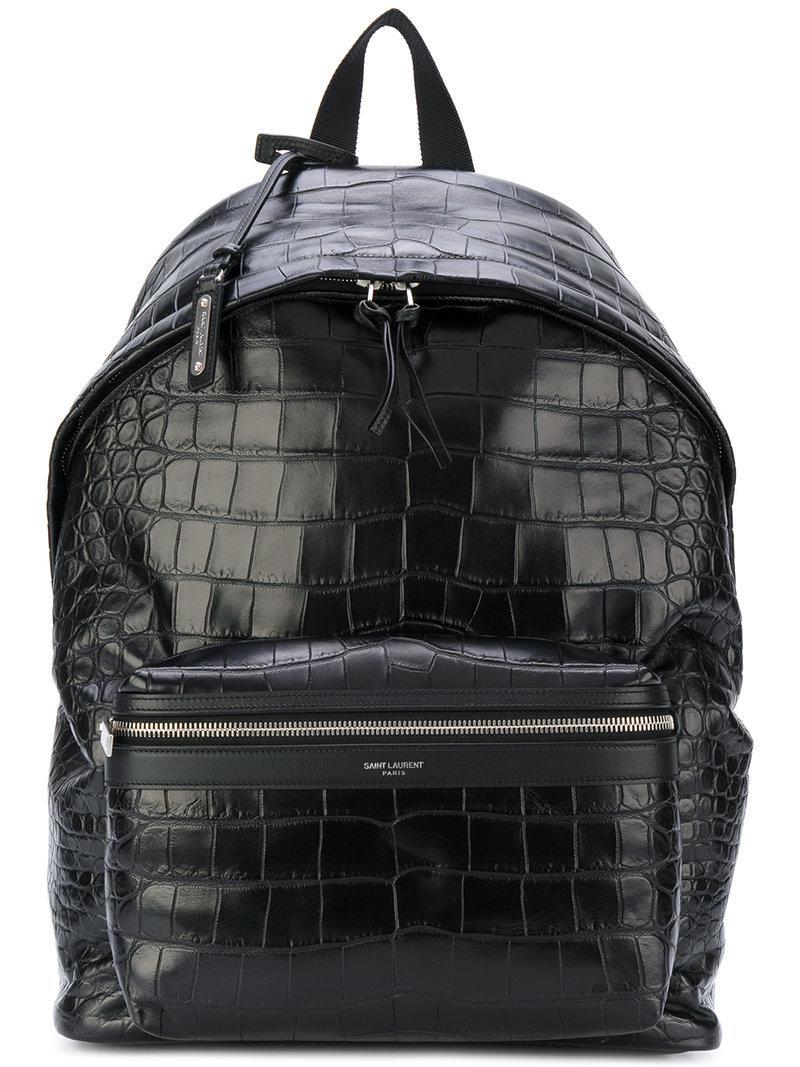 5ad2f6d33 Saint Laurent - Black City Backpack for Men - Lyst. View fullscreen