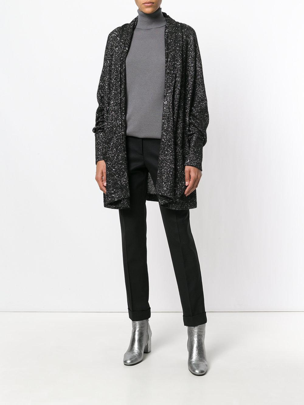 Pascal millet Oversized Glitter Cardigan in Black | Lyst