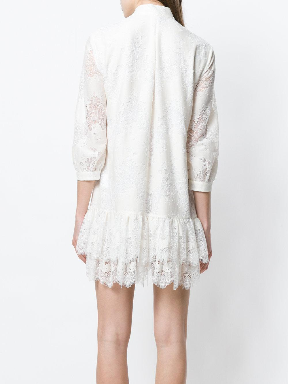 Clearance Footlocker Sale Store layered lace dress - Nude & Neutrals Just Cavalli Discount Codes Shopping Online Outlet Release Dates IrKa1