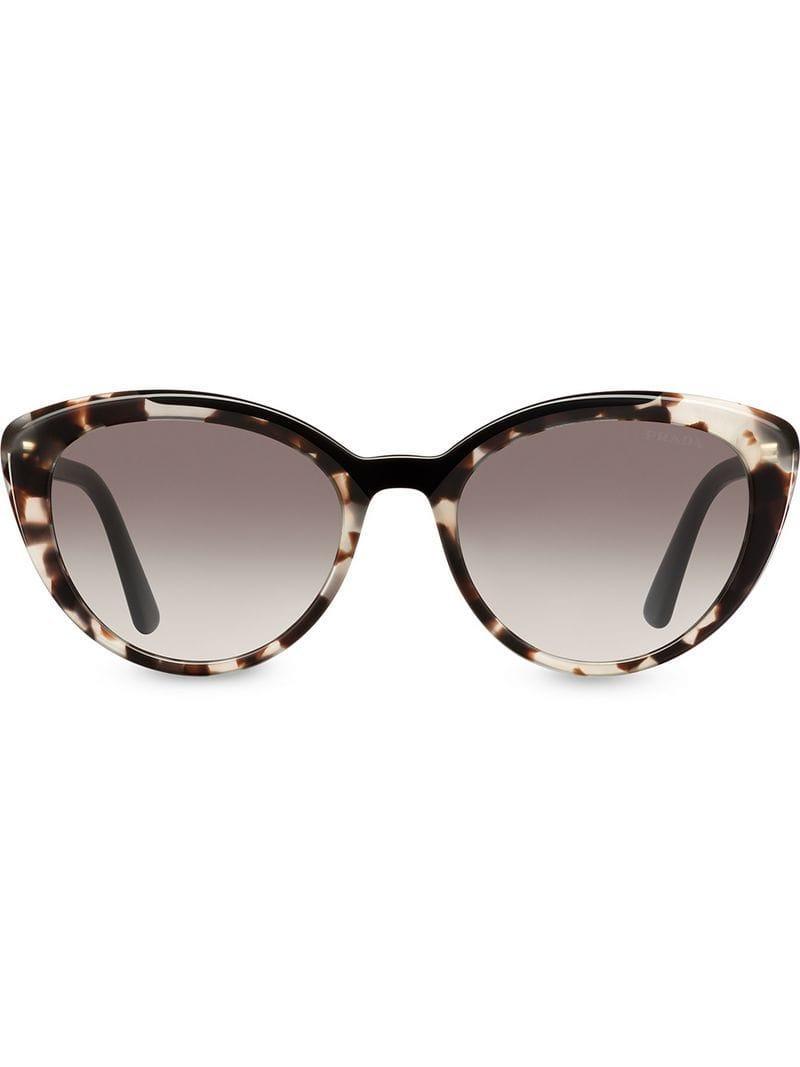 6a537d76b93 Lyst - Prada Cat-eye Shaped Sunglasses in Brown