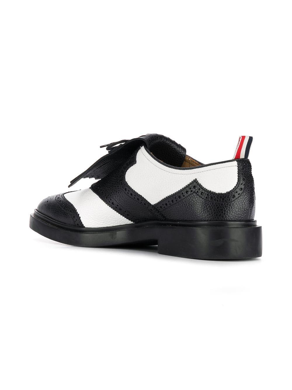 9dba3f433113 Thom Browne - White Pebbled Leather Kilt Brogue for Men - Lyst. View  fullscreen