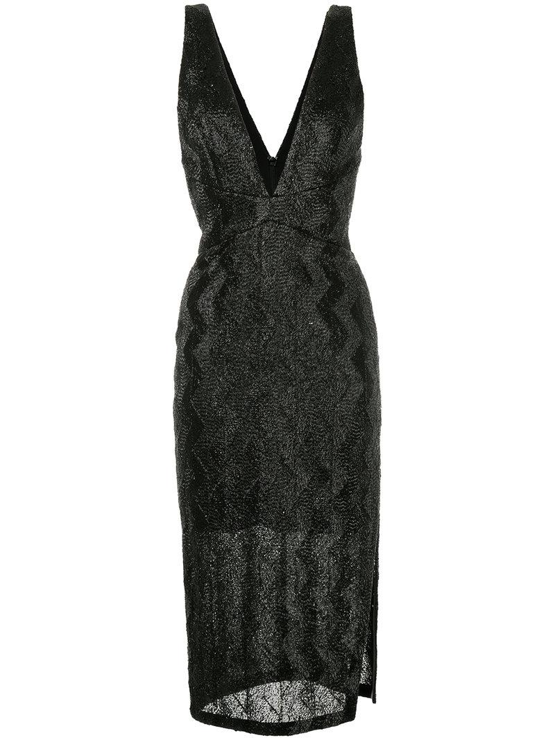 No Filter Plunge dress - Black Manning Cartell Discount Looking For Enjoy Shopping nD72z