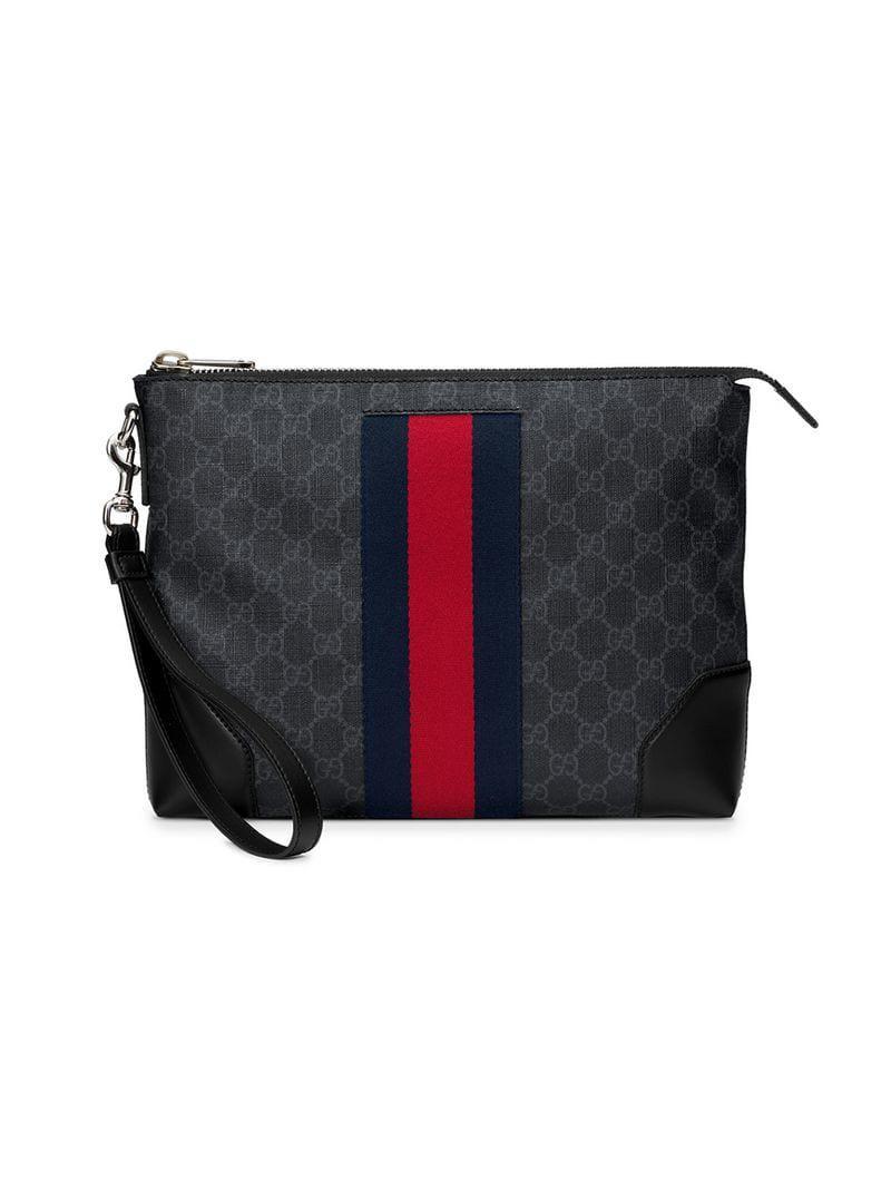 014179893ba Lyst - Gucci GG Supreme Men s Bag in Black for Men