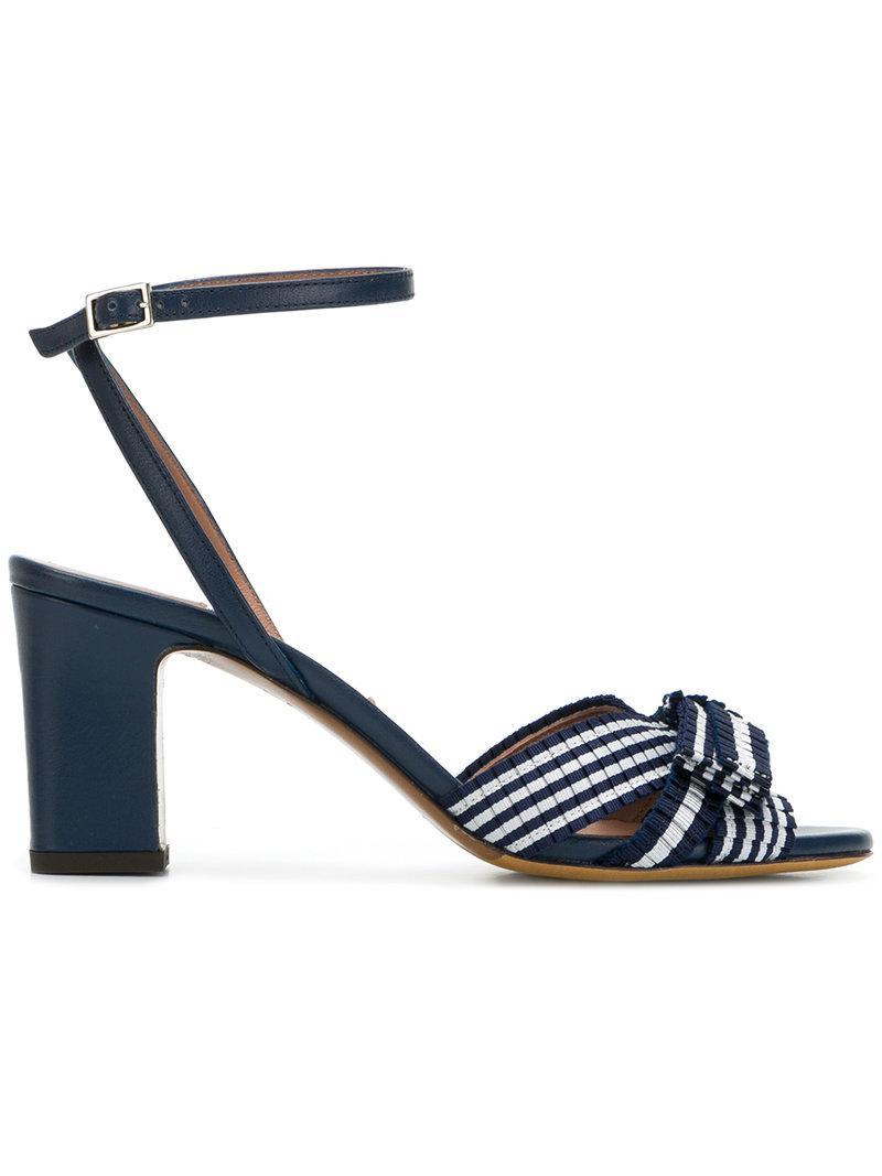 striped bow sandals - Blue Tabitha Simmons D5bEyqFkM
