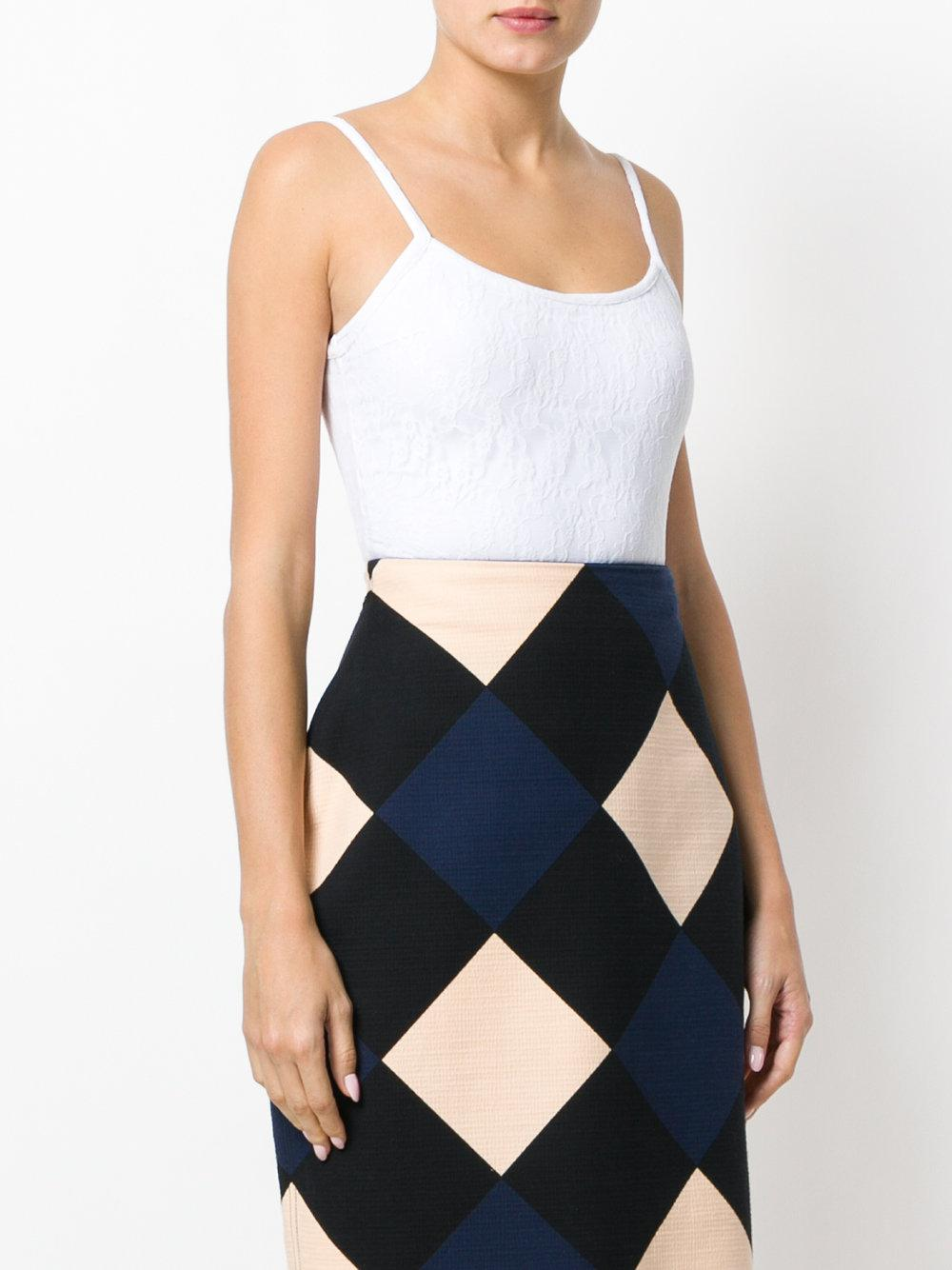 1ec25e71a9 Nina Ricci - White Lace Bodysuit - Lyst. View fullscreen