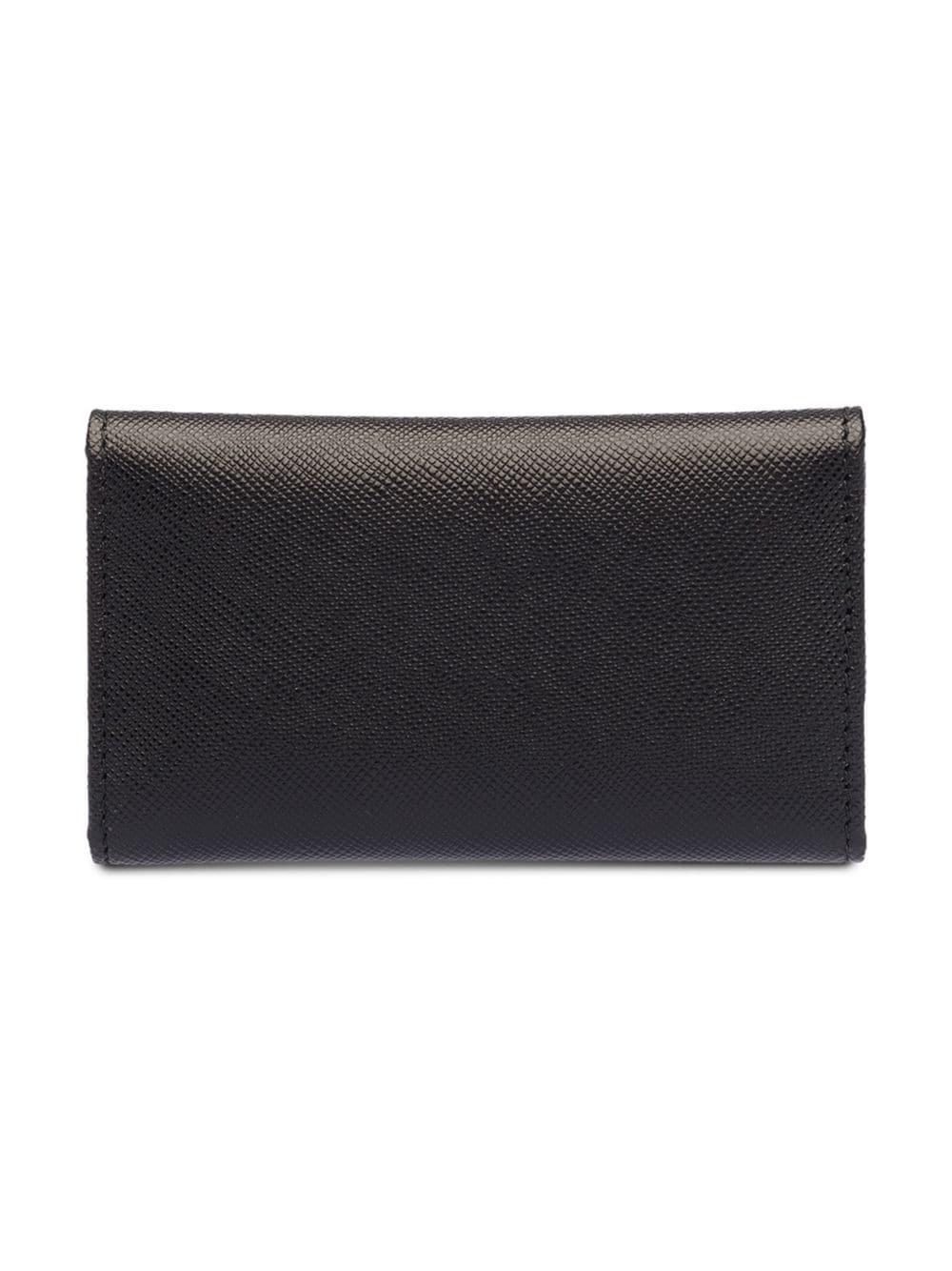 e093e06dedee Prada Leather Keyholder in Black - Lyst