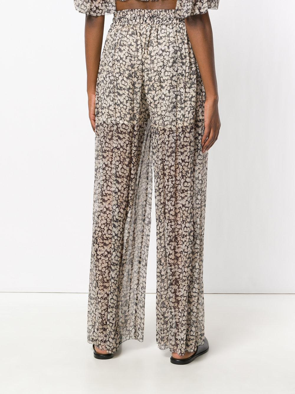 sheer floral trousers - Nude & Neutrals Zimmermann Professional Sale Online Buy Cheap Get Authentic Pre Order For Sale How Much Buy Cheap 2018 New DuKXBz