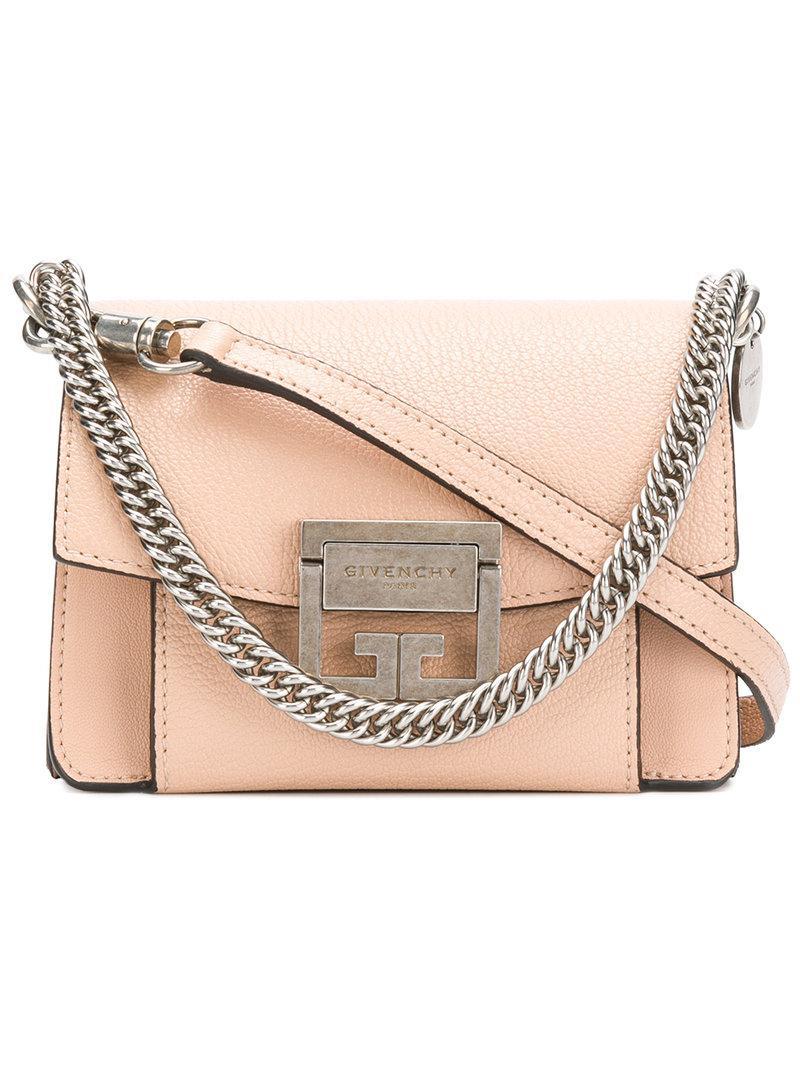 ba19ff735271 Givenchy Nano Gv3 Shoulder Bag in Natural - Lyst