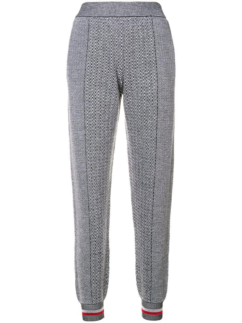 Cheap Discount Sale Amazing Price Online tapered zig-zag track pants - Grey Stella McCartney Discount Pick A Best MJOeRA