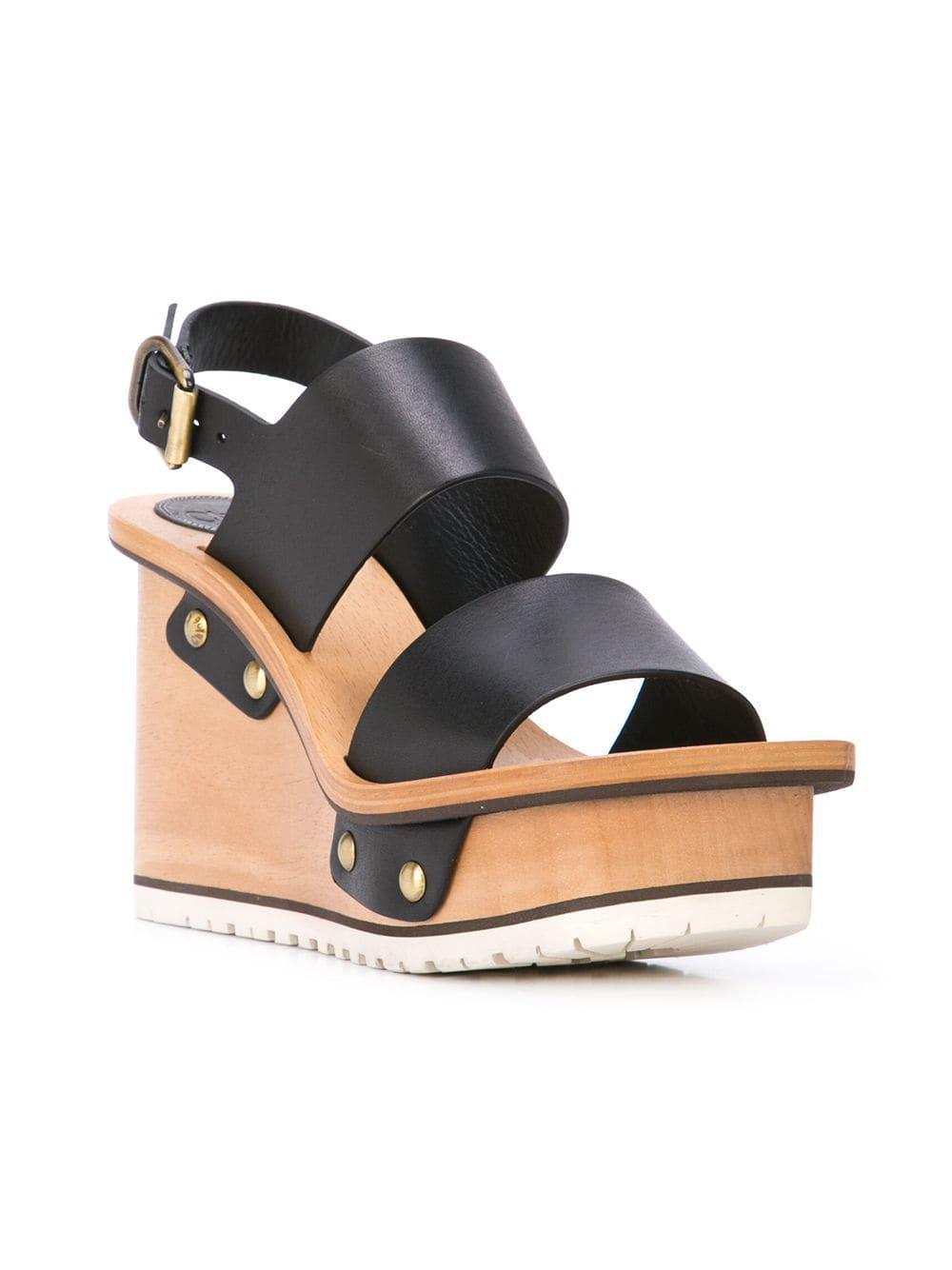 Sandals High Black In Chloé Lyst Wedge Heel B6g7yfyv wXuPZiOkT