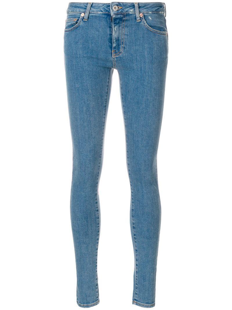 194e33f2fcca Off-White C O Virgil Abloh Denim Printed Jeans in Blue - Save ...