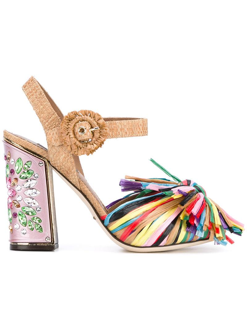 fringed embellished sandals - Pink & Purple Dolce & Gabbana 5wc475z