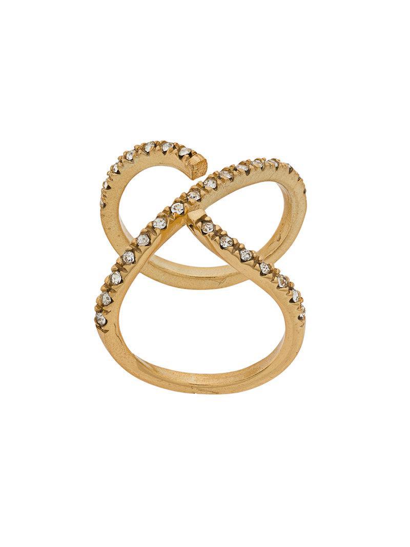 Federica Tosi twisted ring - Metallic nLJUMa