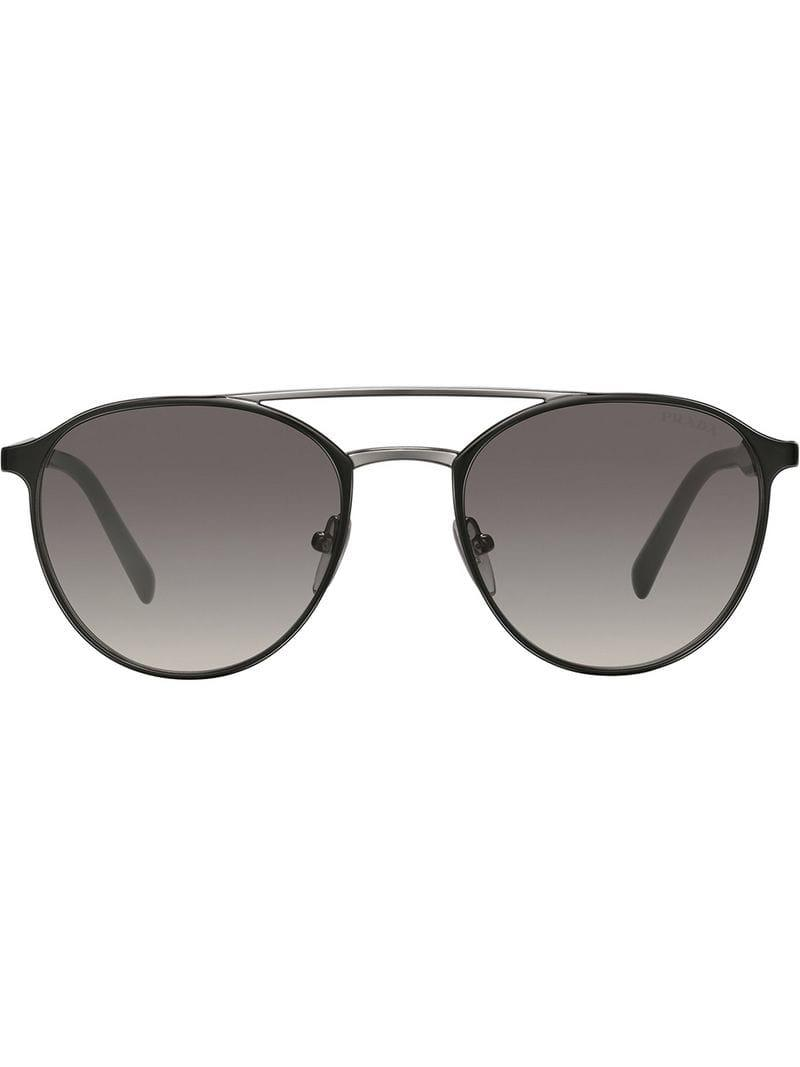 45c6cdaed01 Lyst - Prada Mirrored Carbon Sunglasses in Black for Men