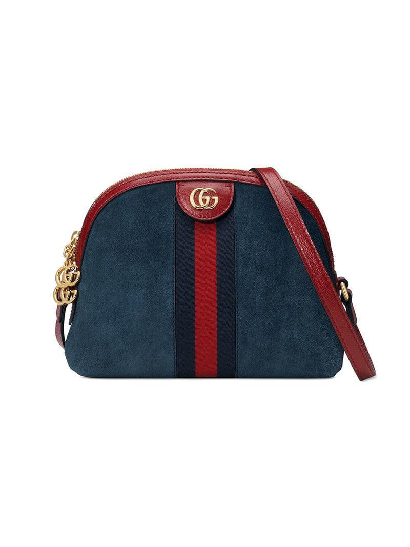 59602a6d72554c Gucci Ophidia Small Shoulder Bag in Blue - Lyst